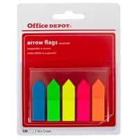 Marque-pages Office Depot Arrows Assortiment 5 Unités de 25 Bandes