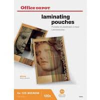 Pochettes de plastification Office Depot Brillant 250 microns Transparent 100 Unités