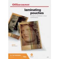 Pochettes de plastification Office Depot Brillant 2 x 125 (250) Micron A3 Transparent 100 Unités