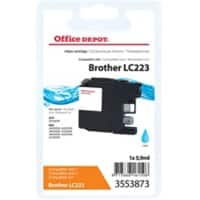 Cartouche jet d'encre Office Depot Compatible Brother LC223C Cyan