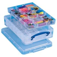 Really Useful Box Boîte de rangement 4CDIVHOB 4 l Transparent Plastique 39,5 x 25,5 x 8,5 cm