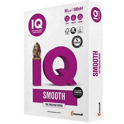 Papier multifonctions IQ Smooth 80 g/m² Blanc 500 feuilles