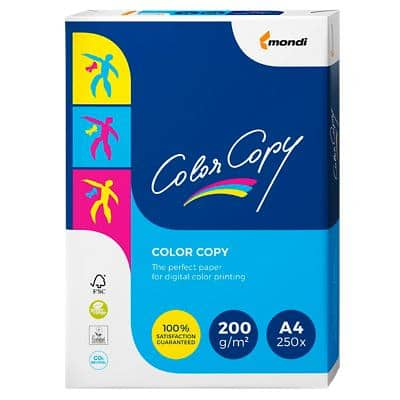Papier Color Copy A4 200 g/m² Blanc 250 feuilles