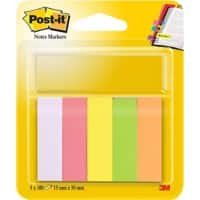 Marque-pages Post-it 670-5 Assortiment 5 Unités de 100 Bandes