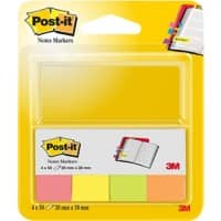 Index repositionnables Post-it Assortiment de couleurs 50 Bandes