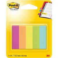 Index repositionnables Post-it 6705CAEU Assortiment 15 x 50 mm 5 Unités de 50 Bandes