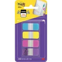 Notes adhésives Post-it Post-It Index Bleu Jaune Rose Violet 4 Unités de 10 Bandes